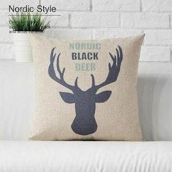 Kuddfodral - Black Deer