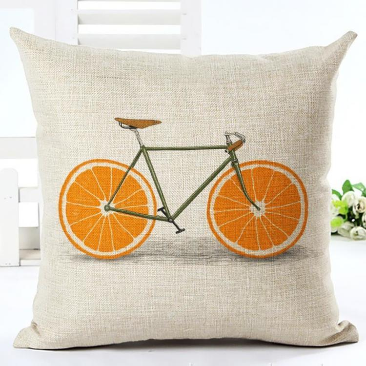 Kuddfodral - Cykel med apelsinhjul 1