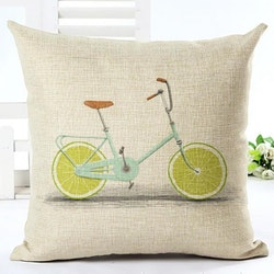 Kuddfodral - Cykel med limehjul