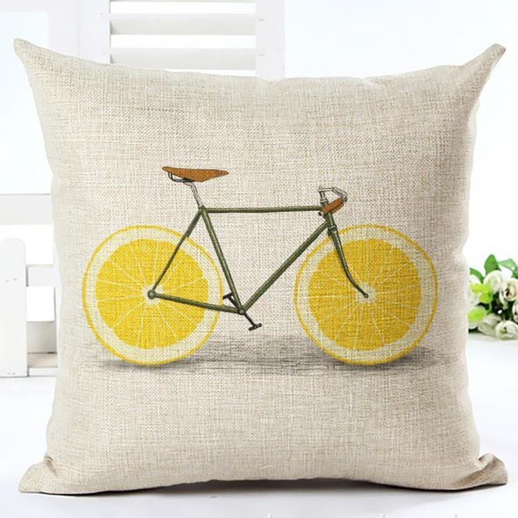 Kuddfodral - Cykel med citronhjul 2