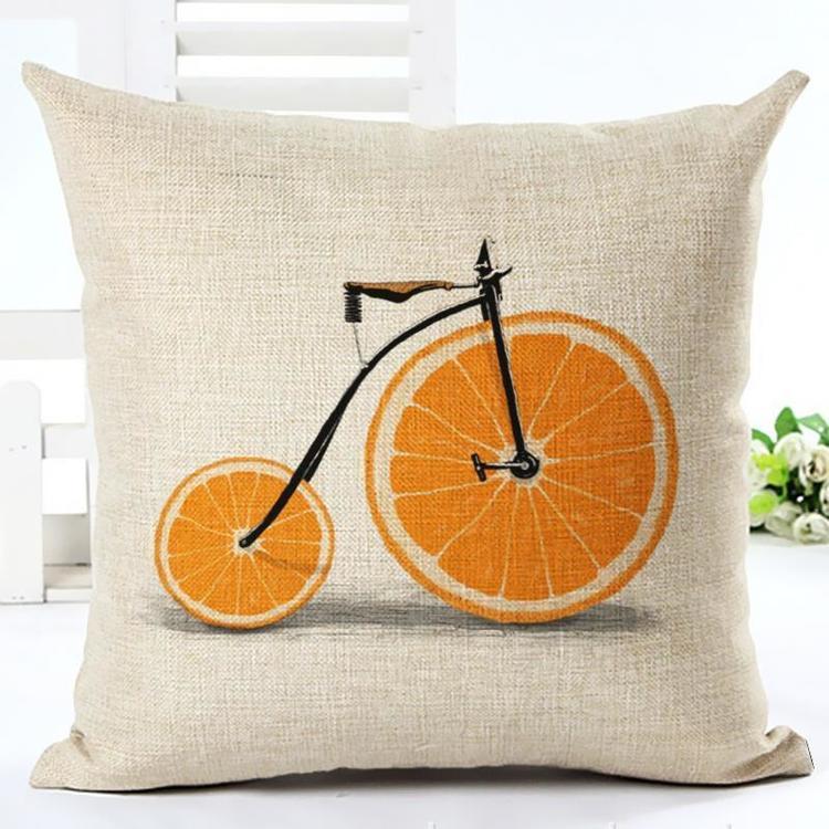 Kuddfodral - Cykel med apelsinhjul 2