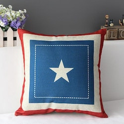 Country Pillows - White Star