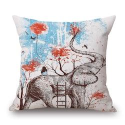 Kuddfodral - Djur - Elefant 12