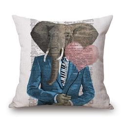 Kuddfodral - Djur - Elefant 16
