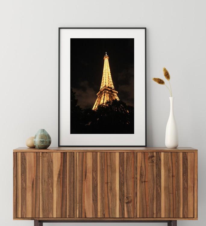 Posters - Eiffeltornet på natten