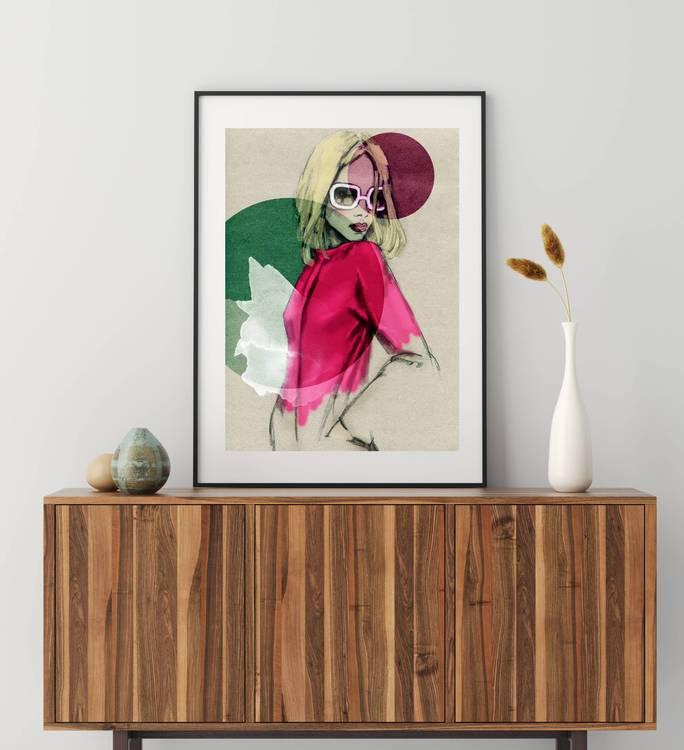 Posters - Abstrakt kvinna
