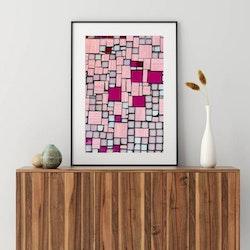 Posters - Rosa mosaik