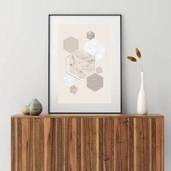 Posters - Minimalism Hexagon