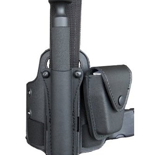 Komplett benplatta RPS med en benrem, hållare för batong och handfängsel ingår.