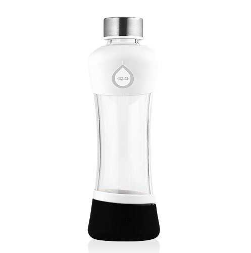 Glasvattenflaska - Active White