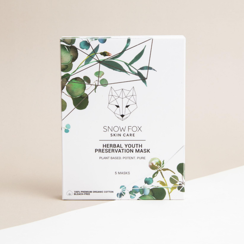 SNOW FOX SHEET MASK - HERBAL YOUTH PRESERVATION 5ST