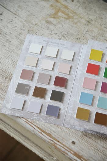 Färgkarta kritfärg/kalkfärg