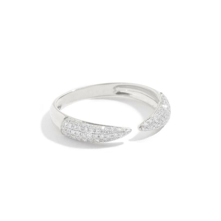 925 SILVER CLAW PAVE RING