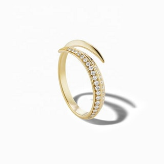 925 SILVER SWIRL OPEN PAVE RING