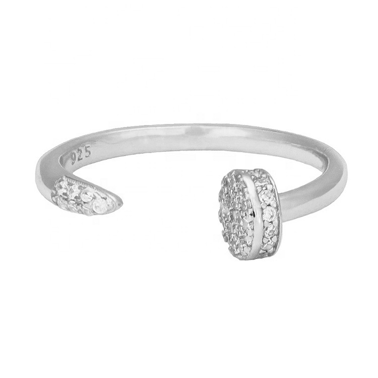 925 SILVER OPEN ROUND RING