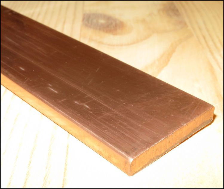 KOPPAR PLATTSTÅNG  EN CW008A SS 5011 25*5mm