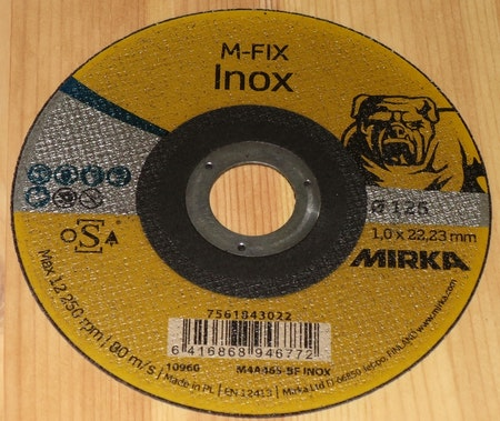 KAPSKIVA MIRKA M-FIX UNIVERSALSKIVA MEDELHÅRD 125*1,6