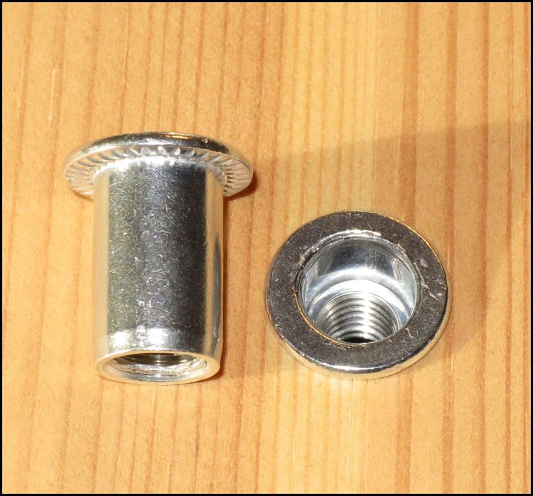 NITMUTTER ALUMINIUM M8 5st
