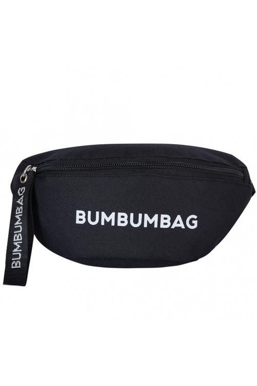 Bumbumbag - Sundae Bumbag Intense brownie med text - Svart