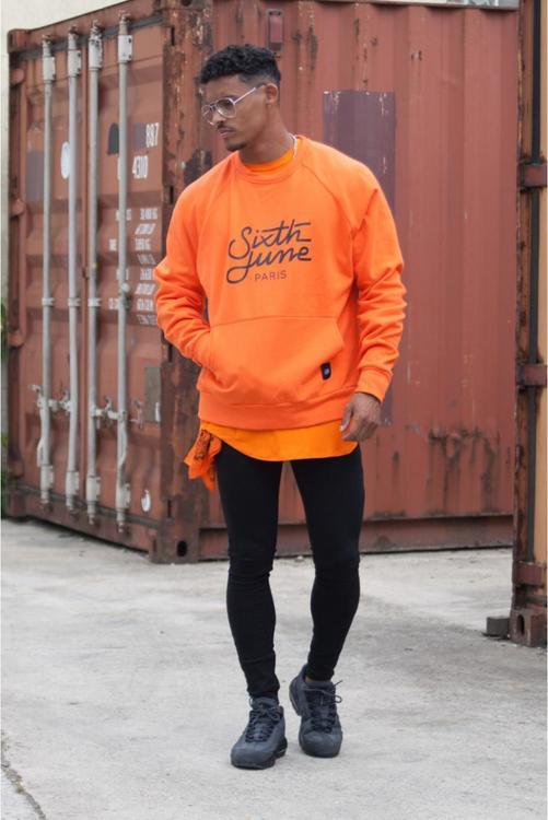 Sixth June - Raglan Sweatshirt - Orange