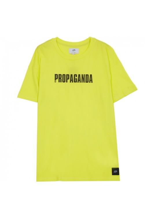 Sixth June - Propaganda neon oversize T-Shirt -  Lime