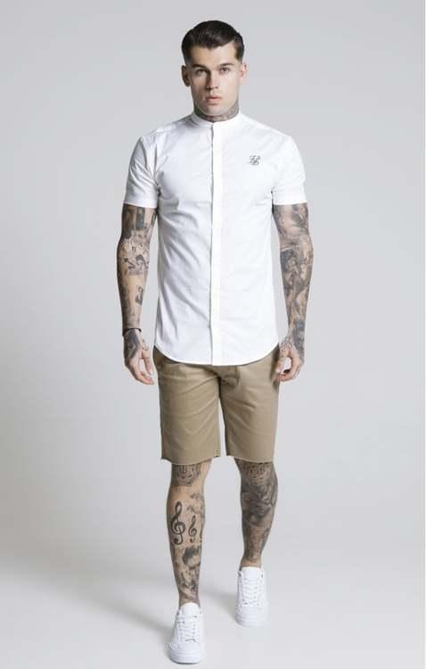 SikSilk - Raw Hem Chinos shorts - Beige