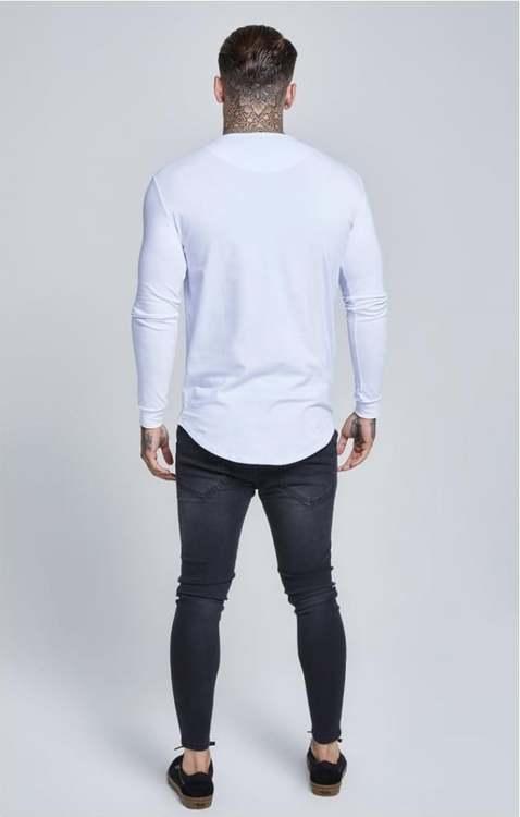 SikSilk Långärmad Gym T-Shirt - Vit