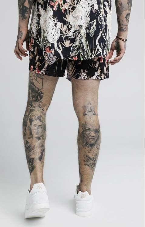 SikSilk  - Standard Swim Shorts – Black