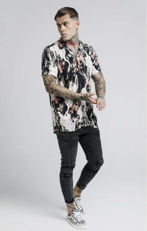 SikSilk - Resort Shirt – Svart