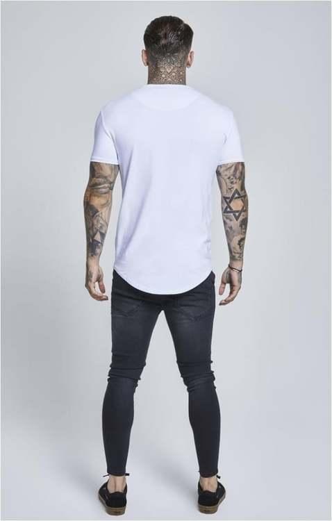 SikSilk - Kortärmad Gym T-shirt - Vit