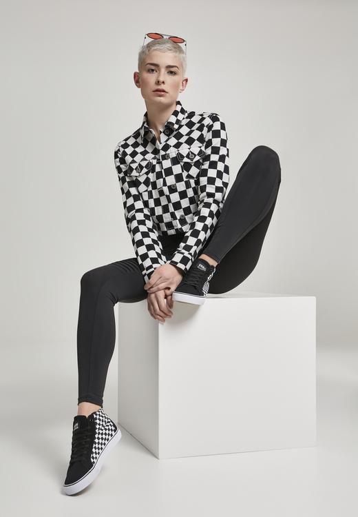 URBAN CLASSICS - Ladies Short Check Twill Jacket