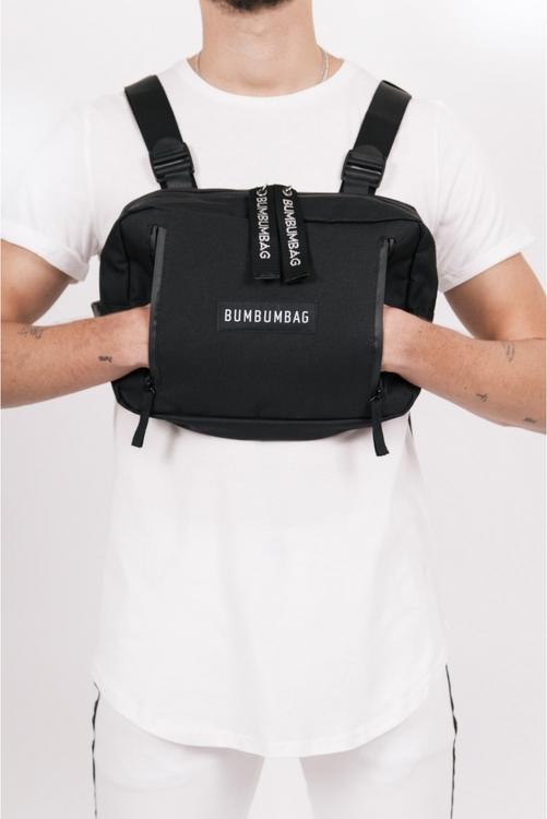 Bumbumbag - Bucket chest bag intense brownie - Svart