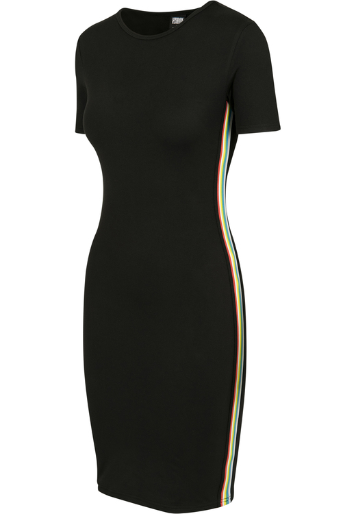 URBAN CLASSICS - Multicolor Side Taped Dress Svart