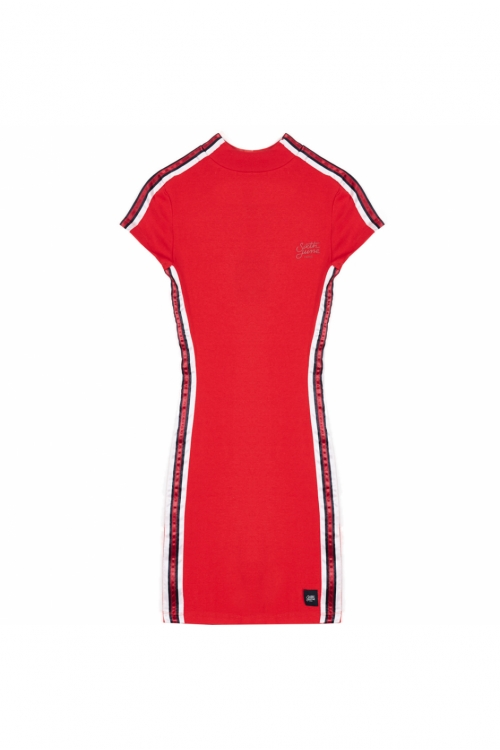 Sixth June - Tape Bodycon Mini Dress - röd