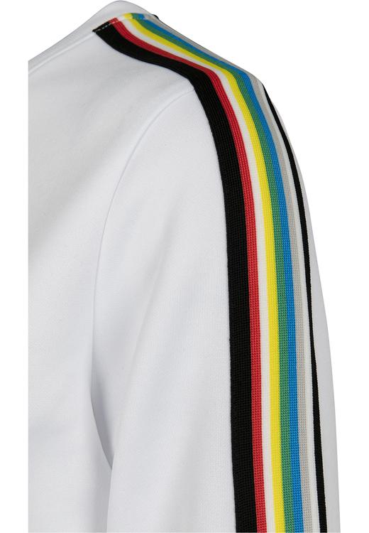 URBAN CLASSICS - Multicolor Taped Sleeve Crewneck Vit