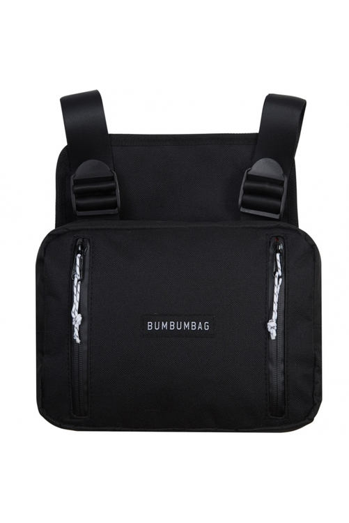 Bumbumbag - Light Bucket Chest Bag Intense brownie - Svart