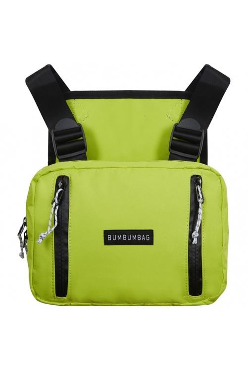 Bumbumbag - Light Bucket Chest Bag Intense Wild Lime - Limegrön