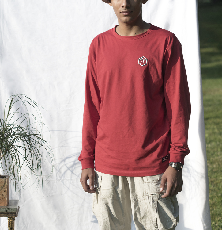 """2 Palm"" långärmad t-shirt"