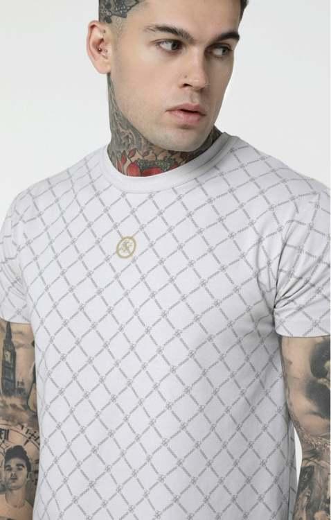 SikSilk  Reverse Collar T-shirt - Ecru