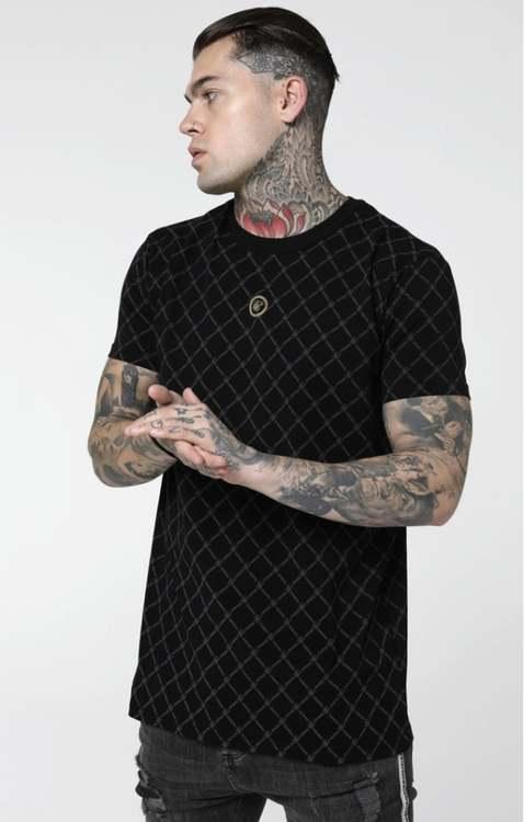 SikSilk Reverse Collar T-shirt - Svart