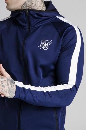 SikSilk - Athlete Zip Through Hoodie - Marinblå