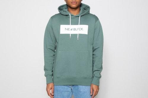 New Black - Landscape Logo Hooded Sweatshirt - Grön