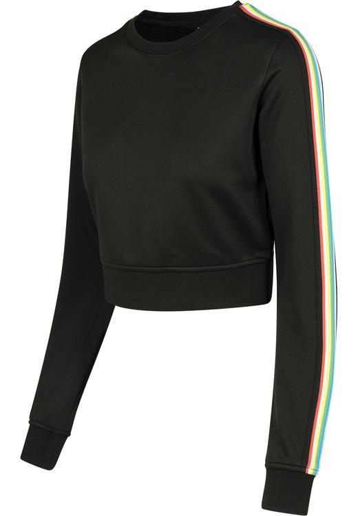 URBAN CLASSICS - Multicolor Taped Sleeve Crewneck Svart
