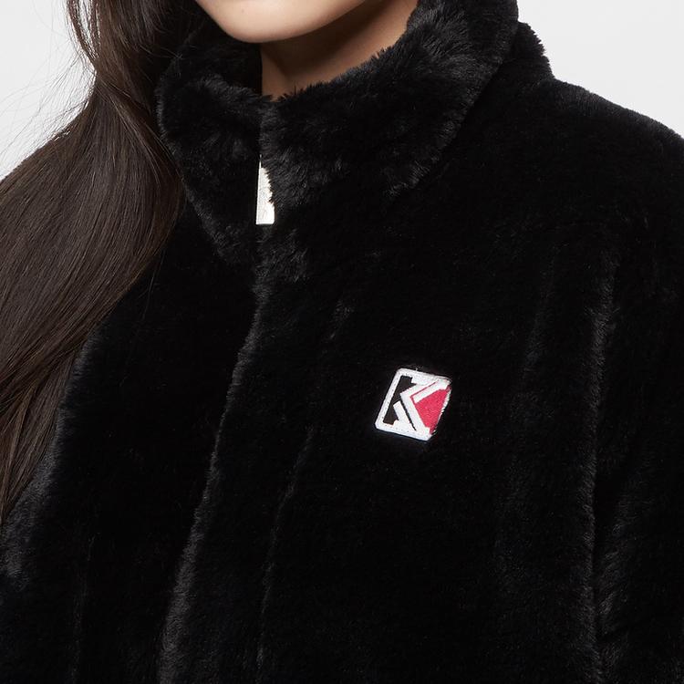 KARL KANI - Retro Fake Fur Jacka - svart