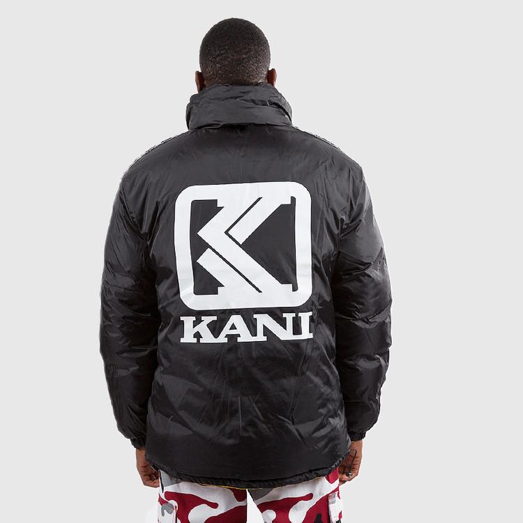 KARL KANI Retro Reversible Puffer Jacka gulsvart EVERYTHINGURBAN | Streetwear och Urban Fashion Online