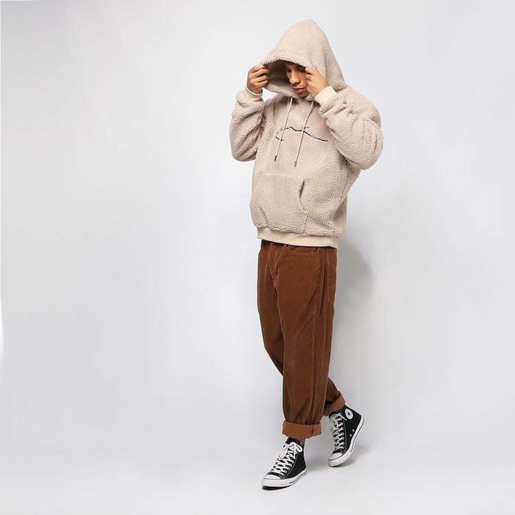 KARL KANI - Signature Teddy Hoodie - grå/beige