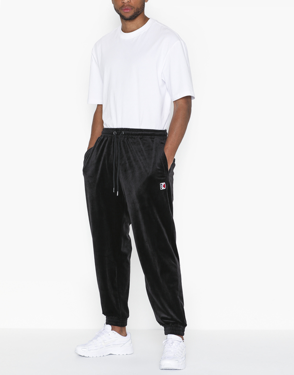 KARL KANI - Retro Velvet Sweatpants - svart