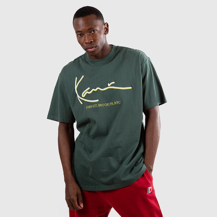 KARL KANI - Signature Tee - grön/gul