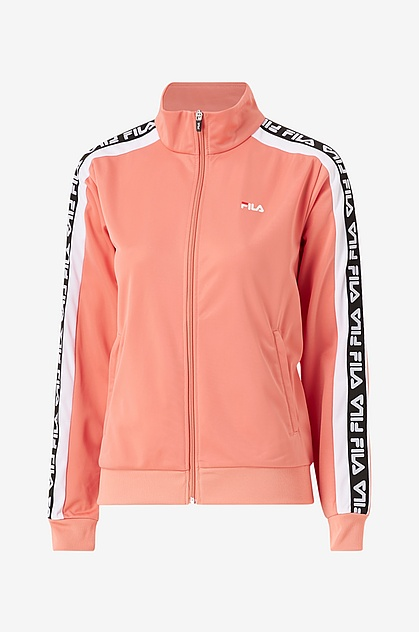 FILA - TAO Taped Foundation tracksuit jacka - lobster bisque/bright white