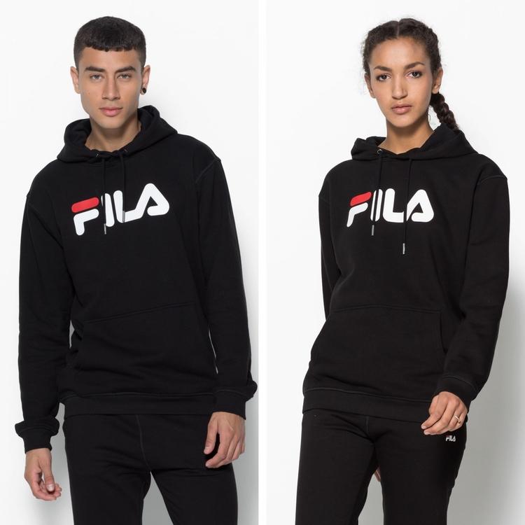 FILA - PURE Basic Hoodie - svart (unisex)